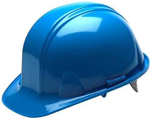Pyramex Standard Shell Snap Lock Suspension Hard Hat, 4 Point Snap Lock Suspension, Light Blue by Pyramex Safety