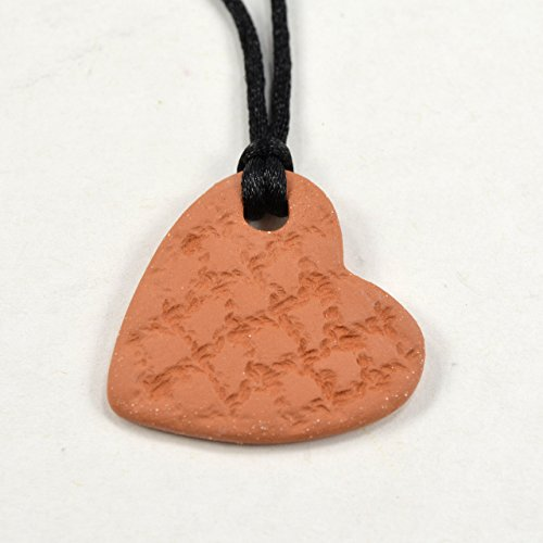 Heart Essential Oil Diffuser Necklace Aromatherapy Pendant with Adjustable Sliding Knot -