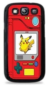 Pokedex with Pikachu Pokemon- Black Silicone Case for Samsung Galaxy S3 -485
