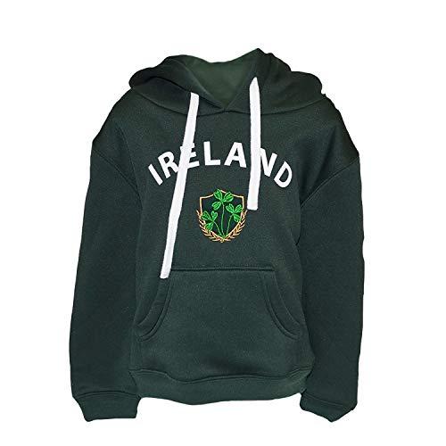 (Lansdowne Green Ireland Shamrock Crest Kids Hoodie (11/12 Years))