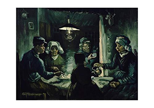 Van Vincent The Potato Eaters Gogh (Spiffing Prints Vincent Van Gogh - The Potato Eaters, 1885 02 - Extra Large - Matte - Framed)