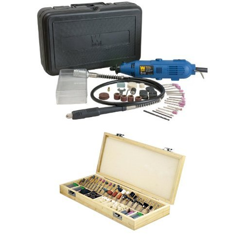 WEN 2305 Rotary Tool Kit with Flex Shaft with SE RA9228 228-Piece Rotary Tool Accessories Kit