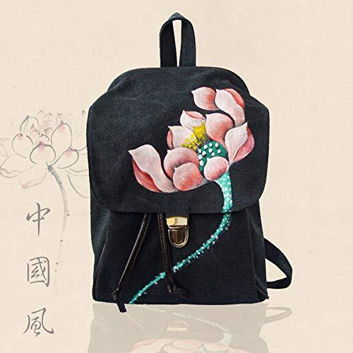 Dos Style Fleur TT bandoulière A la Sac bandoulière Toile à Sac Double Sac à Double F Main Nouveau à Fait Sac à Main Chinois qawva6F1E