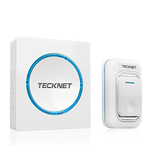 Amazon Lightning Deal 76% claimed: Wireless Doorbell, TeckNet Mains Plug-in Cordless Door Chime at 492-feet Range with 48 Chimes