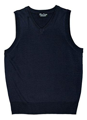 (Blue Ocean Kids Solid Color Sweater Vest-7/boys)