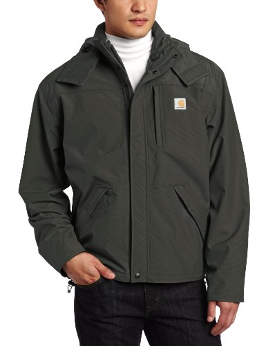 Faucet Beaded - Carhartt Men's Shoreline Jacket Waterproof Breathable Nylon,Olive,Medium