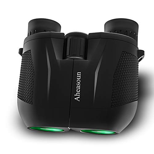 Aheasoun Binoculars 10x25 Compact Professional HD BAK4 Prism FMC Lens for Bird Watching Hunting Travel Sport