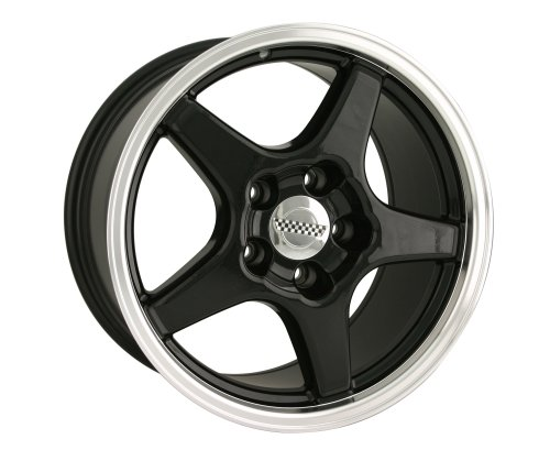Detroit 841 ZR1 Corvette Black Replica Wheel (17x9