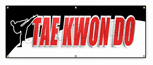 2 ft x 6 ft TAE KWON DO BANNER SIGN martial art karate self defense school brazilian by TopLine Banners