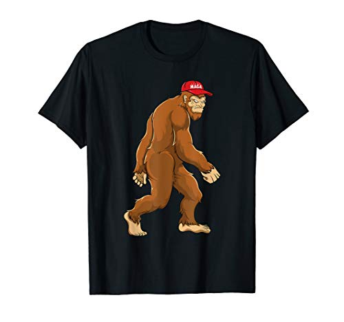 Bigfoot MAGA Hat Sasquatch Trump 2020 Kids Boys T-Shirt
