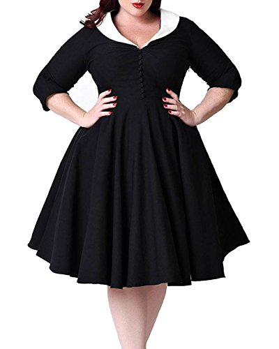 50s pin up dresses plus size - 7