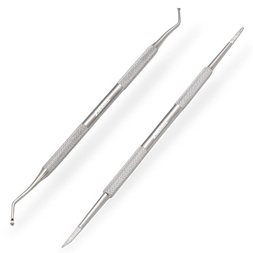 ZIZZON Ingrown Toenail File and Lifter Double Sided Professional Surgical Grade ()