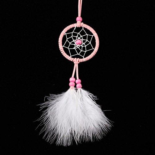 MoGist Rosa Mini Pendant Dream Catcher Wall Hanging Ornamenti Decorazione Auto Craft Gift