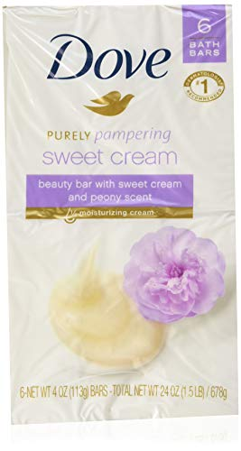 (Dove Purely Pampering Beauty Bar, Sweet Cream & Peony, 4 oz bars, 6 ea (Pack of 2))