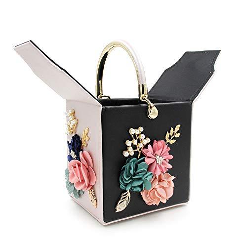 Perla Tote Quadrato Per Fashion Fiore 7 Per Cena Ricamo Con Semplice Confezione La Sacchetto FFLLAS Con RPx466