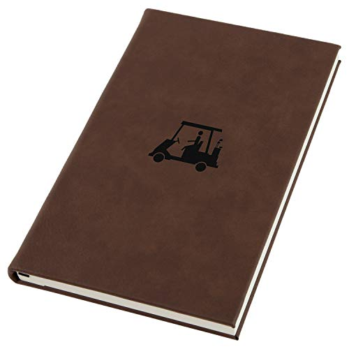 Golf Cart Engraved A5 Leather Journal, Notebook, Personal Diary