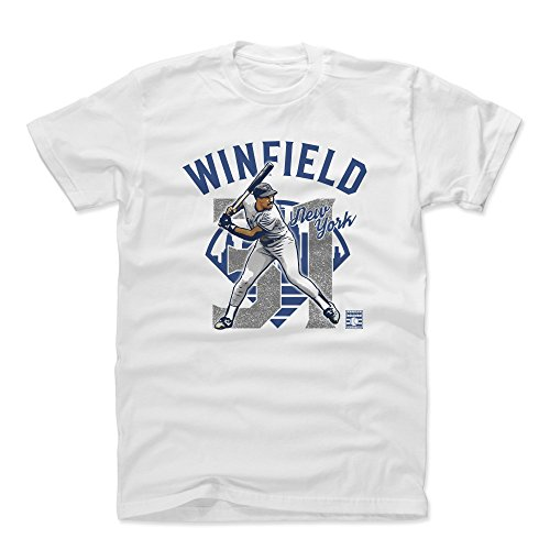 (500 LEVEL Dave Winfield Cotton Shirt (X-Large, White) - New York Yankees Men's Apparel - Dave Winfield Arch B)
