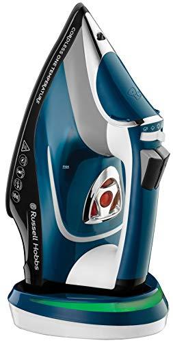 Russell-Hobbs-One-Temperature-Plancha-de-ropa-de-vapor-sin-cable-2600-W-suela-de-ceramica-azul-ref-26020-56