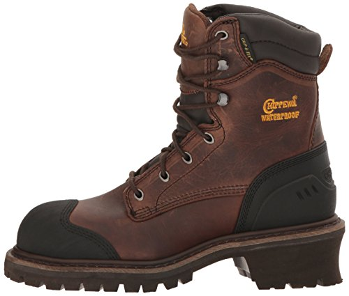 Chippewa Men's 8 Inch Chocolate Oiled Waterproof Comp Toe Logger Boot,Brown,8.5 M US by Chippewa (Image #5)
