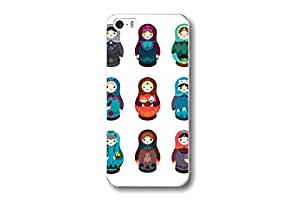 Kunyuhengxin for Apple iPhone 4 4S Cute Doll Russia Matryoshka Pattern Painted Hard Back Case Cover Protector