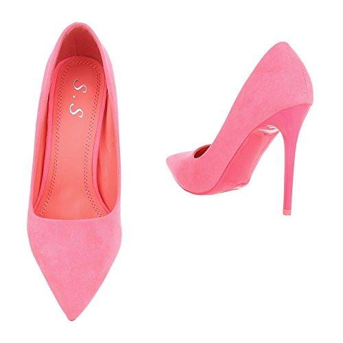 femme chaussures 71 5015 Design Ital compensées Pink qHPaZt