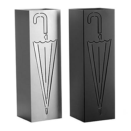 Schwarz dcasa Schirmst/änder 2//C Metall 15,50/x 15,50/x 49/cm wei/ß und grau