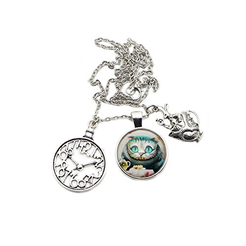 Alice in Wonderland - Cheshire Cat - Necklace Pendant Classic Movies Cosplay by Athena Brand -