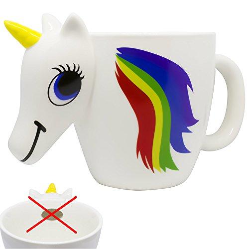 Vanilla Tree NO HOLE Design Premium Ceramic Magic Heat Color Changing 3D Coffee Unicorn Mug Rainbow