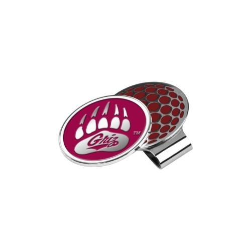 NCAA Montana Grizzlies Golf Hat Clip with Ball Marker - Mtg Clip