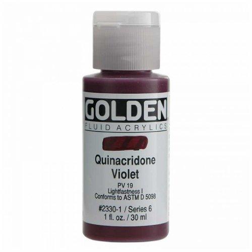 (Golden Fluid Acrylic Paint 1oz-Quinacridone)
