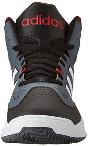 Adidas Neo Cloudfoam trueno Mediados de zapatos, plomo / blanco / rojo de la potencia, 7 M US Lead/White/Power Red