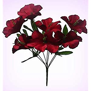 Inna-Wholesale Art Crafts New 5 Hibiscus Wine Burgundy Silk Decorating Flowers Bridal Bouquets Centerpieces - Perfect for Any Wedding, Special Occasion or Home Office D?cor 28