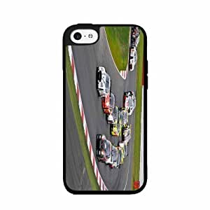 Cars Racing on Racetrack TPU RUBBER SILICONE Phone Case Back Cover iPhone 5c
