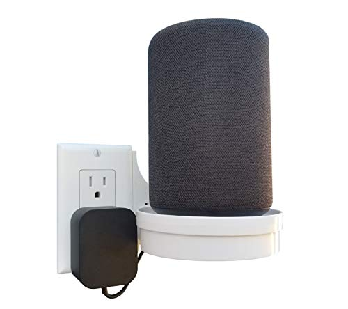The Easy Outlet Shelf by Mount Genie - Works With All Outlets - Easy Quick Install - Hidden Cord Cable Storage Management - Great for Google Home, Nest, Cameras, Voice Assistants, and More