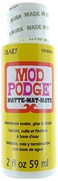 Mod Podge Gloss Water base sigillante/colla e finitura, bianco, 56,7gram, Materiale sintetico, White, 3.4 x 3.4 x 10 cm Plaid PECS15138