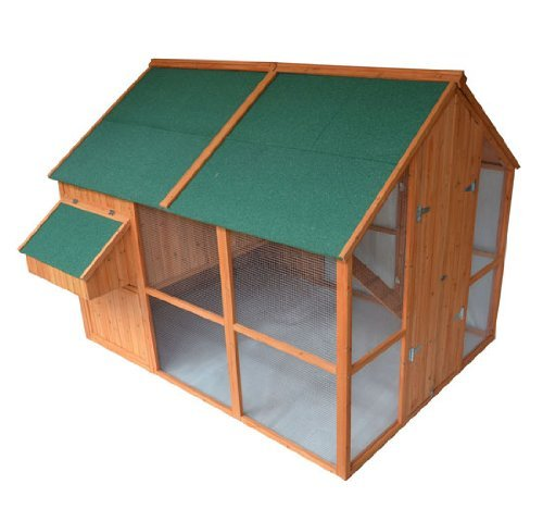 Pawhut Deluxe Extra-Large Backyard Chicken Coop / Hen House w/ Outdoor Run (Large Chicken Coop Kit compare prices)