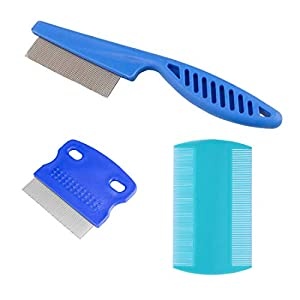 zYoung 3 Pcs Pet Comb Tear Stain Remover Combs for Dogs, Dog Comb 3