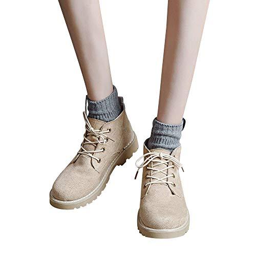 scarpe Flat Stivali Donne stivali Cachi Paolian moda Donna pelle Oxford caviglia corti scarpe casual S6aYd