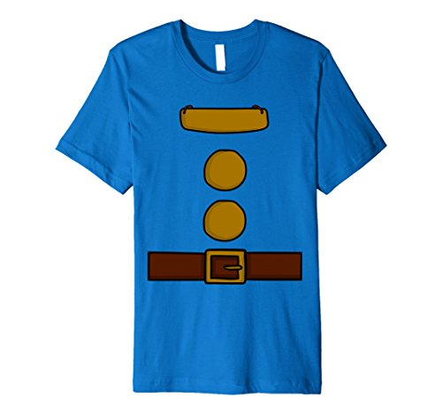 Halloween Costumes Idea Men (Mens Dwarf Halloween Group Costume Idea T-Shirt with name plaque XL Royal Blue)