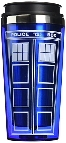 "Bif Bang Pow! ""Doctor Who TARDIS"" Travel Mug, 16 oz, Blue"