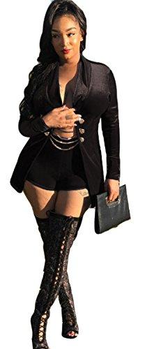 Wear Black Velvet Blazer - 4