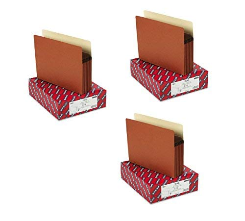 Smead File Pocket, Straight-Cut Tab, 5-1/4'' Expansion, Letter Size, Redrope, 10 per Box, 3 Boxes, 30 Total (73234)