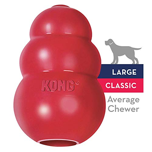 KONG Classic Dog Toy, Large, Red (Dog Toys That Help With Separation Anxiety)
