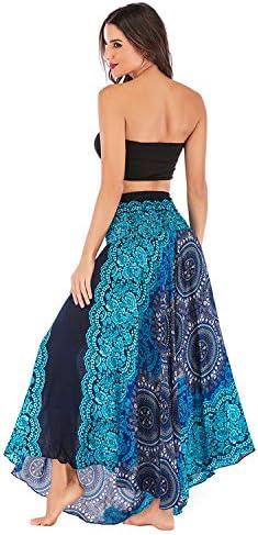Women Skirts Vintage Long Bohemian Style Gypsy Asymmetric Hem Design Long Maxi Skirt