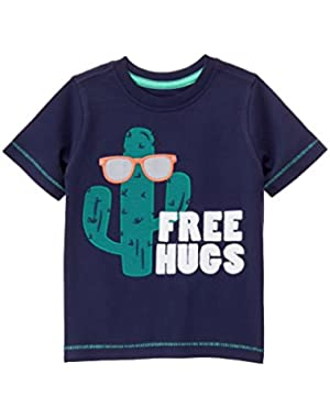 Baby Toddler Boys' Free Hugs Cactus Tee