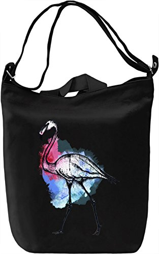 Splash Flamingo Borsa Giornaliera Canvas Canvas Day Bag| 100% Premium Cotton Canvas| DTG Printing|