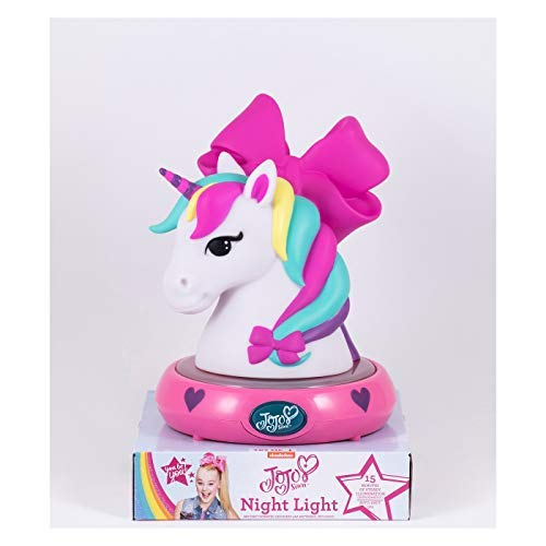 JoJo Siwa 3D NightLight Unicorn Figurine Lamp by Nickeloden Jojo Siwa