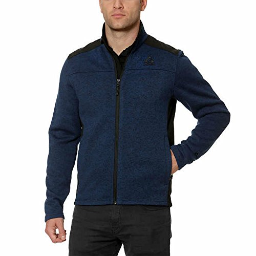 dia Knit on the Go Full Zip Jacket (XL, Blue) (Left Chest Logo Pullover Jacket)