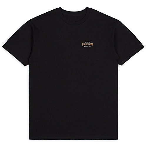 湾抑圧する隣接する【BRIXTON】ブリクストン 2018春夏 CINEMA S/S STANDARD TEE メンズ半袖Tシャツ ティーシャツ ショートスリーブ バックプリント トップス