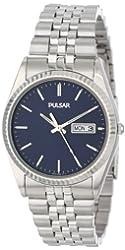 Pulsar Men's PXF277 Dress Silver-Tone Stainless Steel Watch
